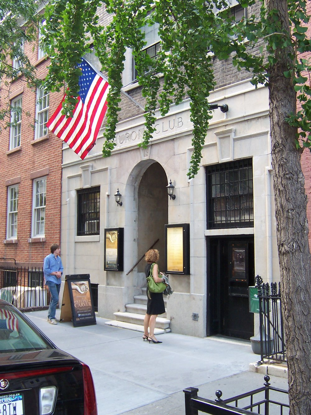 HISTORY - The SoHo Playhouse stands on land that was once Richmond Hill, a colonial mansion that served as headquarters for General George Washington and later home to Aaron Burr. Purchased from Burr in 1817, the land was then developed into federalist-style row houses by fur magnate John Jacob Astor.15 Van Dam Street, was designated at the Huron Club, a popular meeting house and night club for the Democratic Party. The turn of the century brought the Tammany Hall machine to the Huron Club. Prominent regulars included