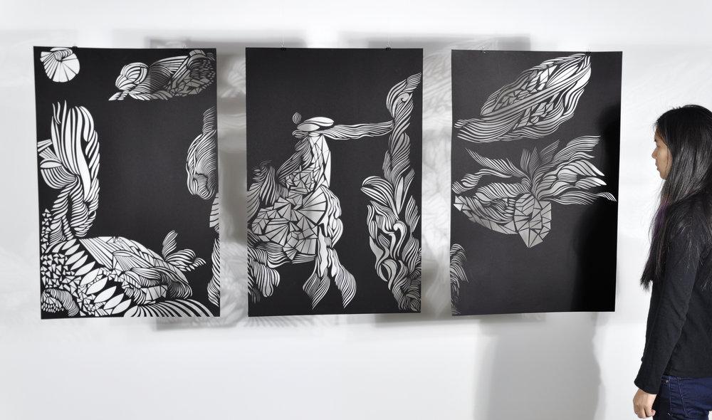 """Triptych #2  – 35"""" x 75"""""""