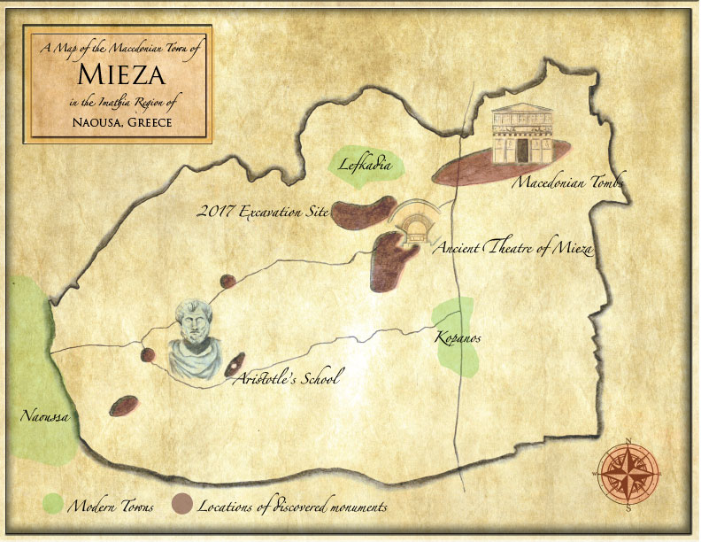 Fig. 1 — Mieza Greece Map