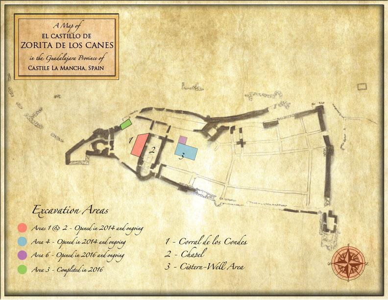 Fig. 1 — Map of Zorita