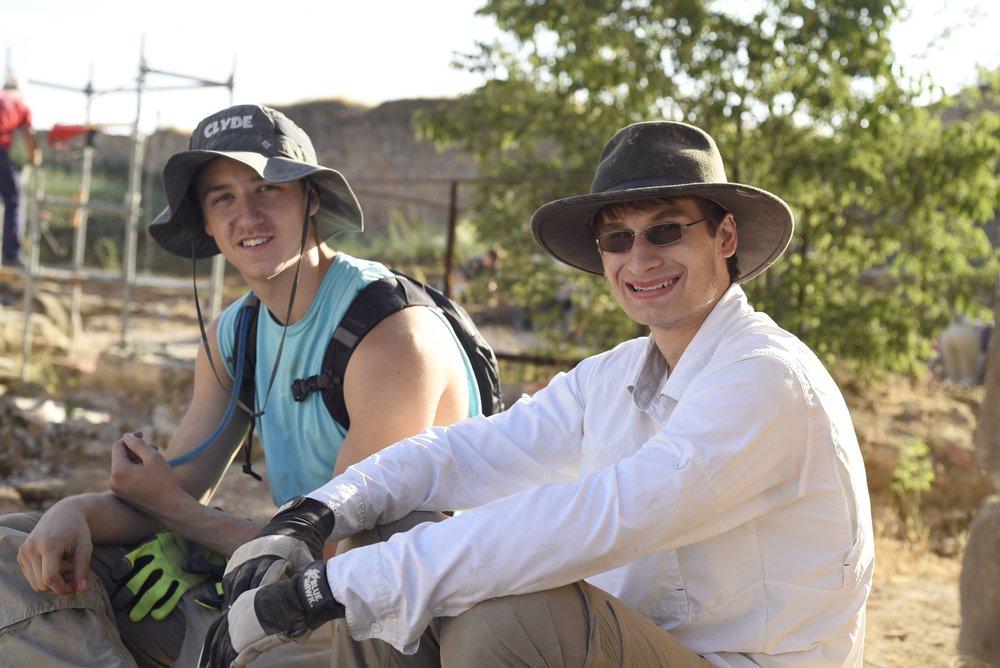 Matthew Hines (right) alongside fellow student Thadeus Freidline.