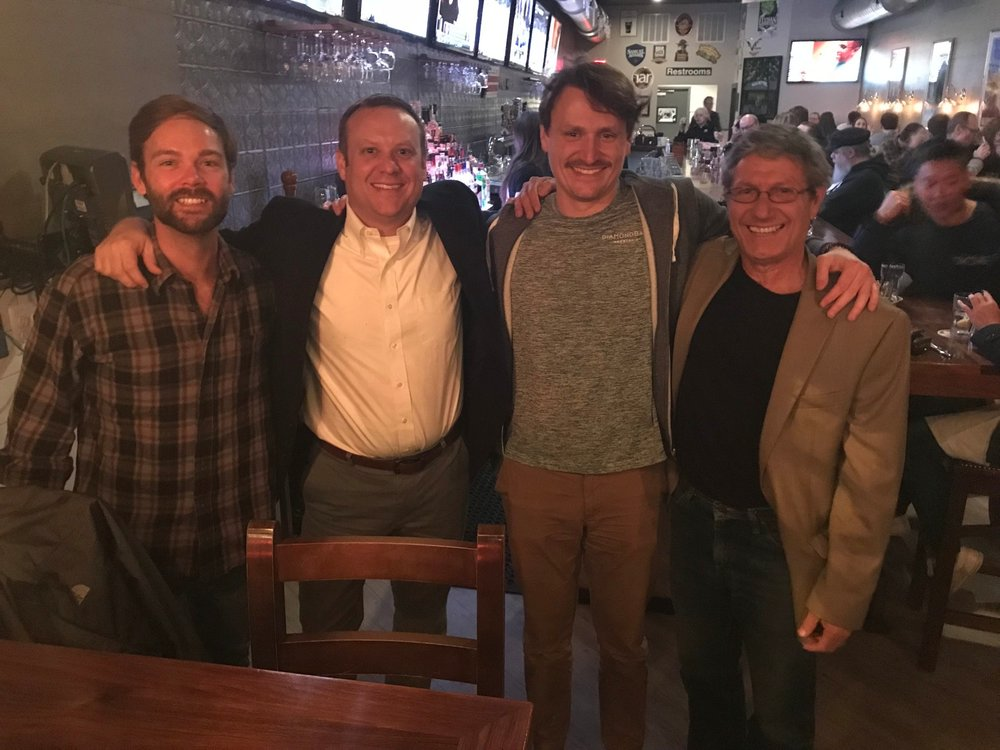 Pictured left to right: Heath Bentley, Mat Saunders, Tom Wilkey, Jamie Awe. Heath and Tom were the first pioneers in 2006 to blaze the trail for other pre-collegiate students to join the AFAR family. Jaime is Mat's archaeology mentor before he started teaching.