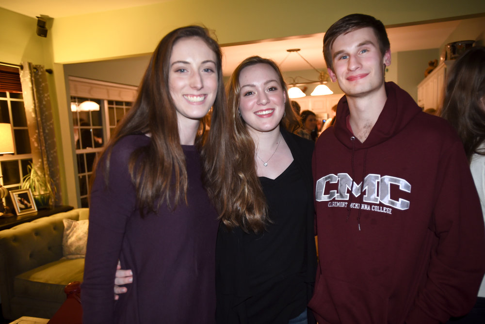 Davidson Day School Class of 2018 Alum, and AFAR Alum, gathered recently at the Sanders' home for a reunion. Left to right: Sarah Slay, Teagan Jams and Matthew Hines.