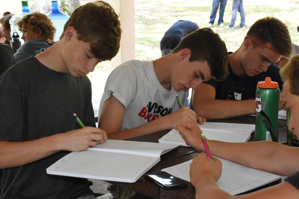 From left: Nicholas Rogers, Mark Breunig and Murphy Jones.