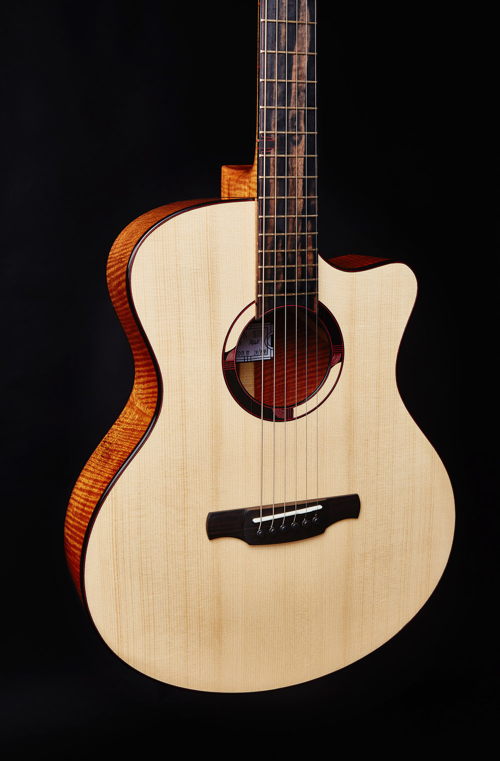 - #63:Curly Mahogany, Adirondack Spruce, Multicolored Ebony