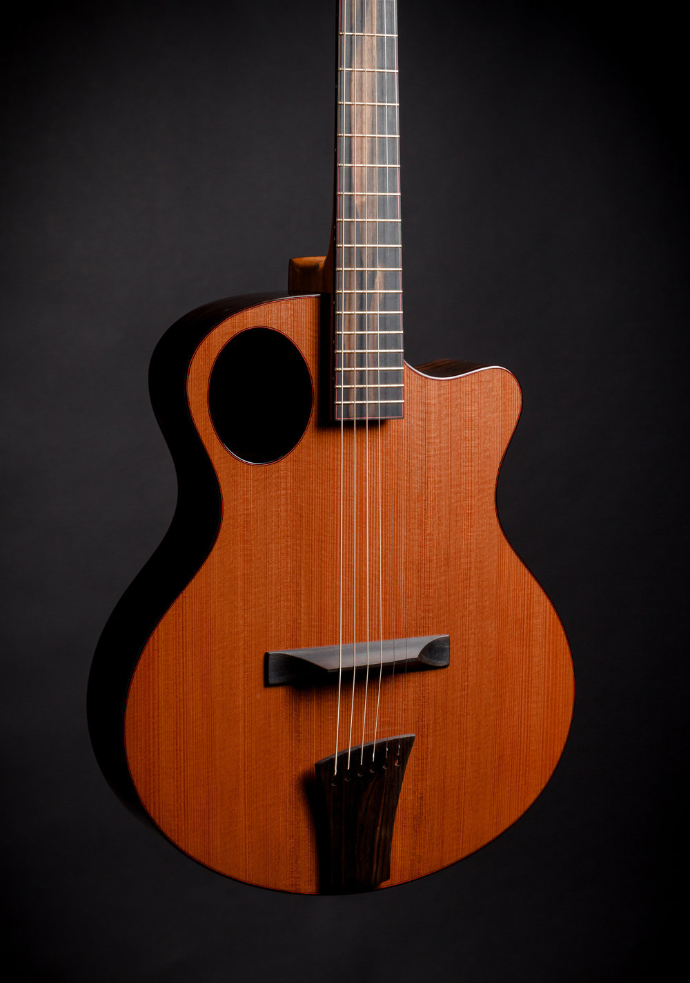 "Auriole 15.4"": Redwood top, Macassar Ebony Back/Sides"