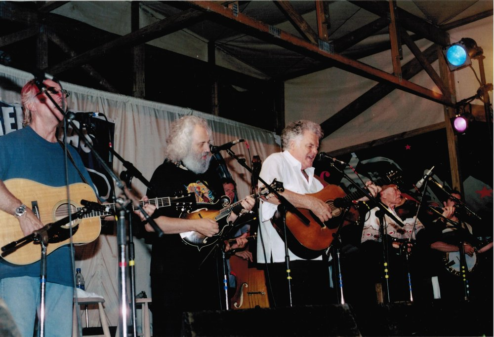 - With Herb Pedersen, David Grisman,Peter Rowan, & Vassar Clements