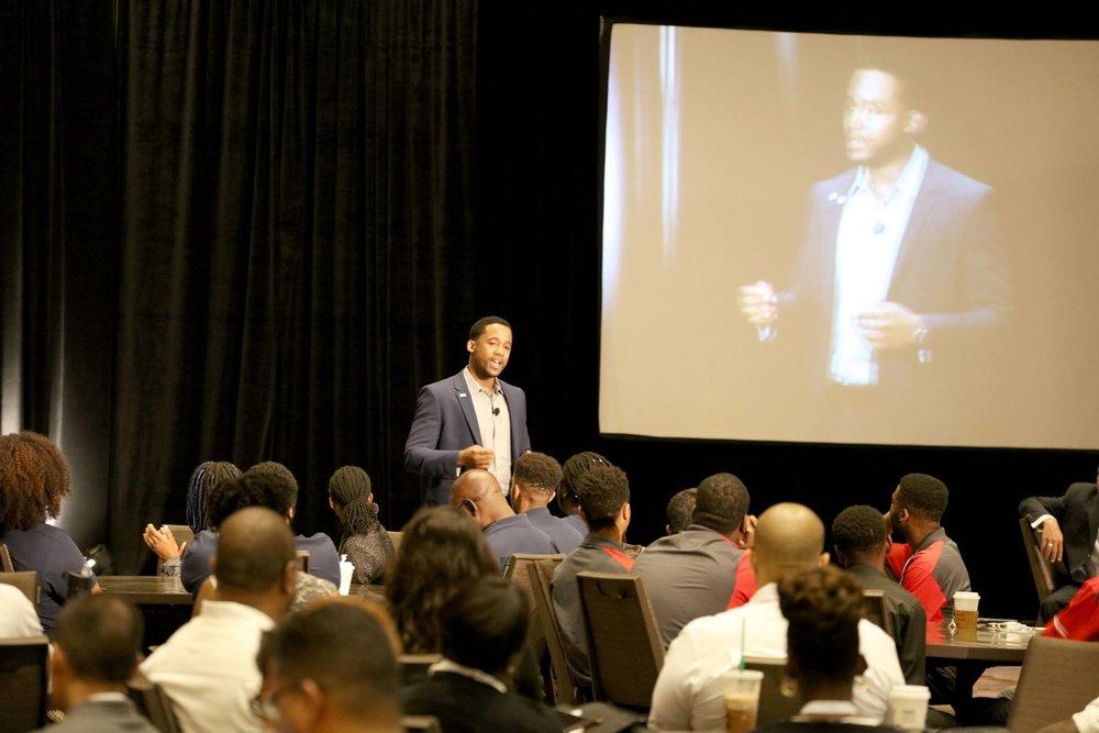 Ashton Clark, MBA, storyteller, motivational speaker, information technology leader, intrapreneur and nationally award-winning entrepreneur at Black Data Processing Associates Conference