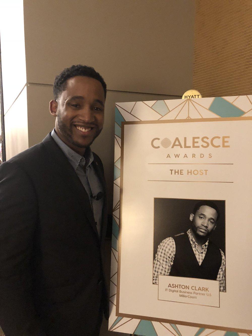 Ashton Clark, MBA, storyteller, motivational speaker, information technology leader, intrapreneur and nationally award-winning entrepreneur Coalesce Awards in Chicago
