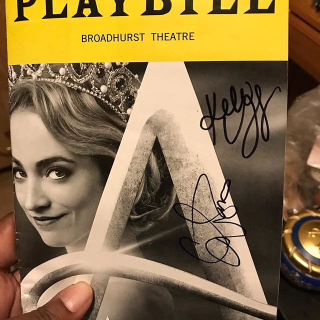 Got an autograph @christyaltomare when we went to see Anastasia tonight! And I'm ashamed to admit I got star struck and forgot to take a photo with her. 😂 There's always next time!