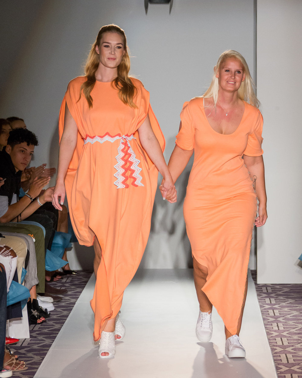 Jannie Gefle and Pernille Fristad on the catwalk in New York published in 9to9 Daily.