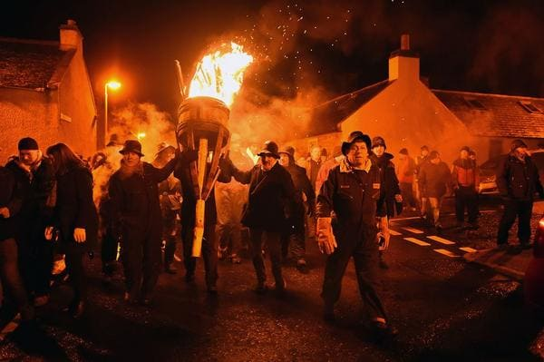 Burning of the Clavie, Burghead