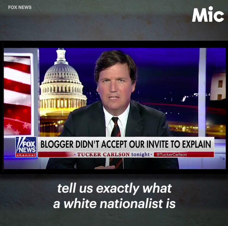 A video explainer on exactly how Tucker Carlson works white nationalist talking points into his programming.  Watch the  full video here .