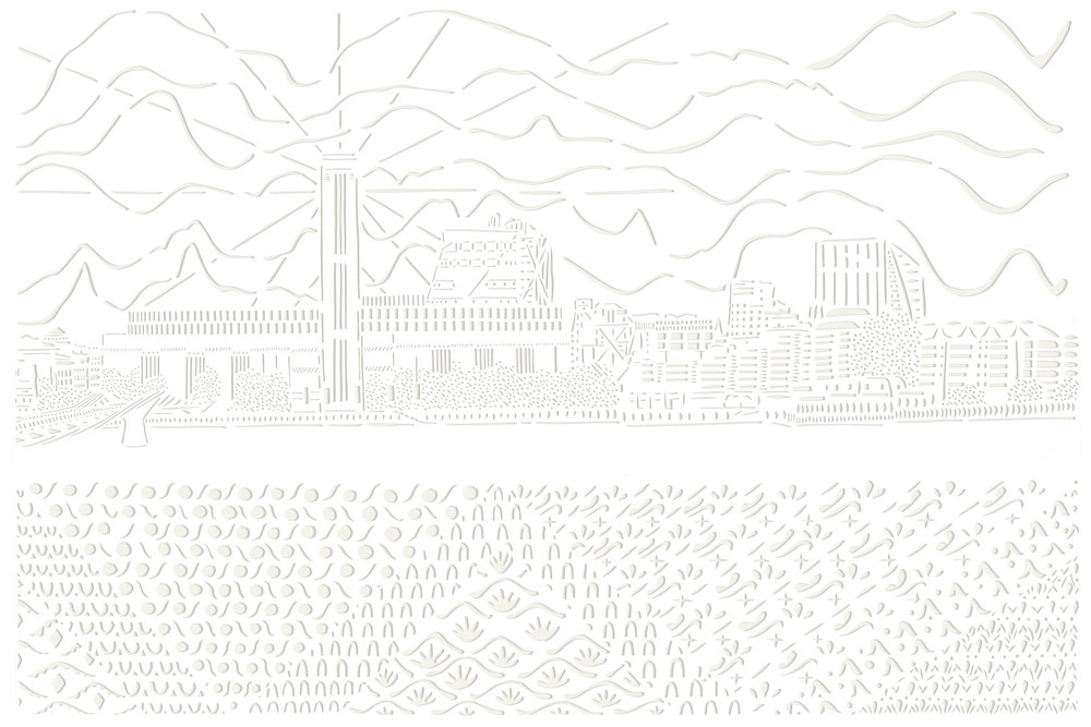 The View of the Thames, papercut, 59.4 x 84.1cm