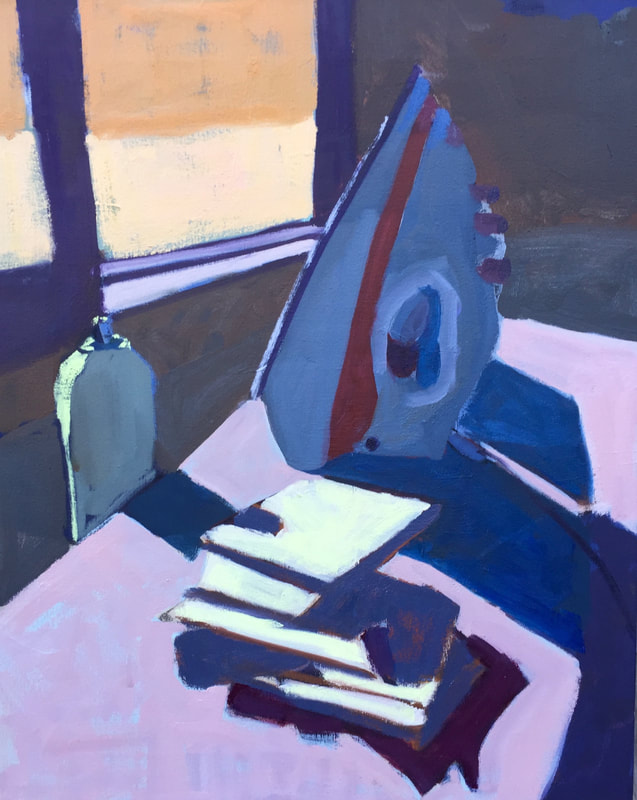 Ironing Hankies 20 x 16 oil Available in studio.jpg