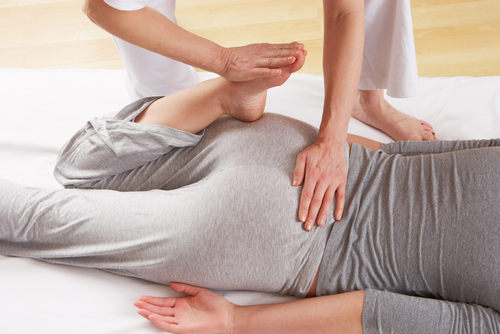 shiatsu massage in Bristol leg stretch