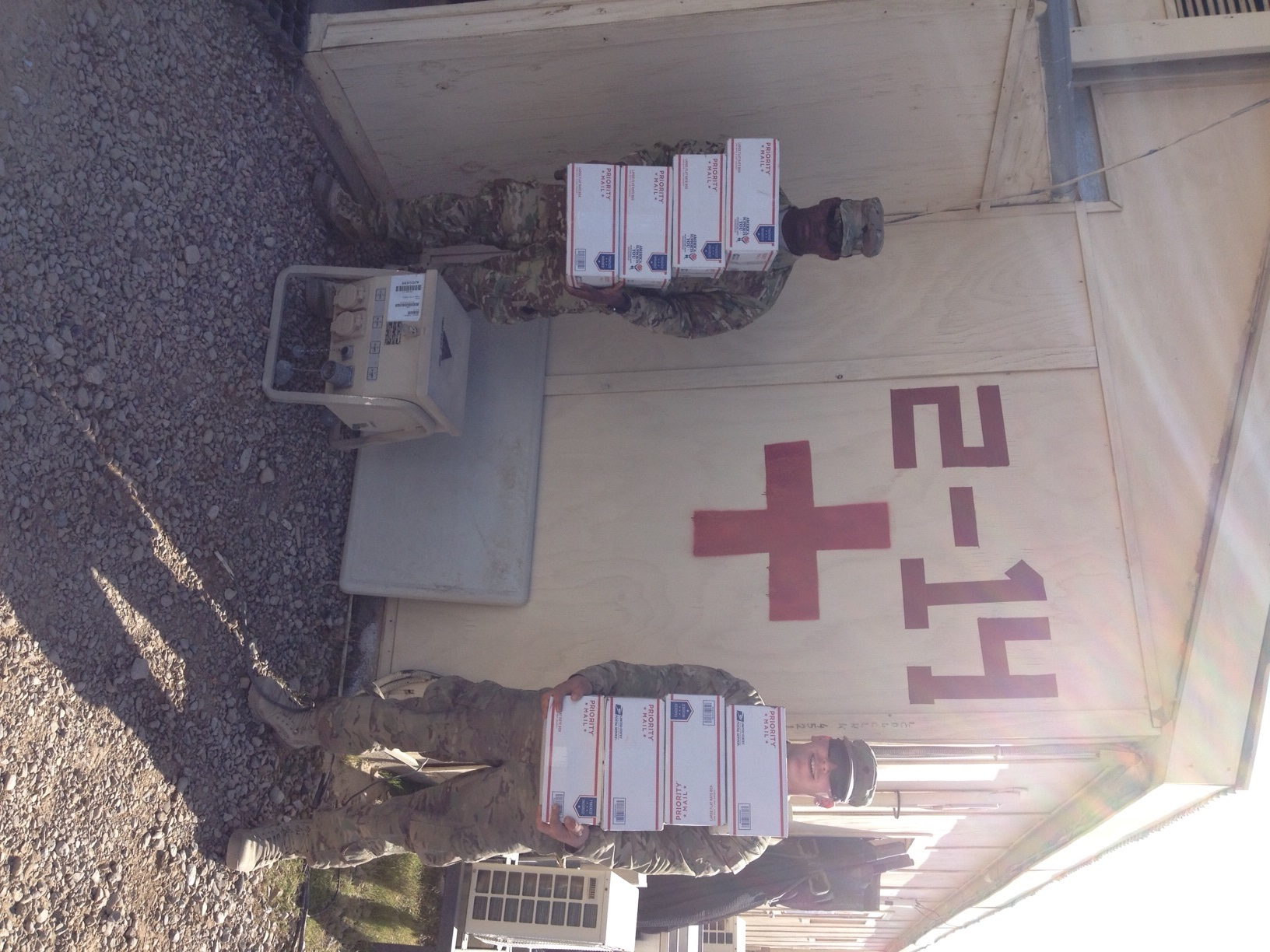 soldiers with boxes 1