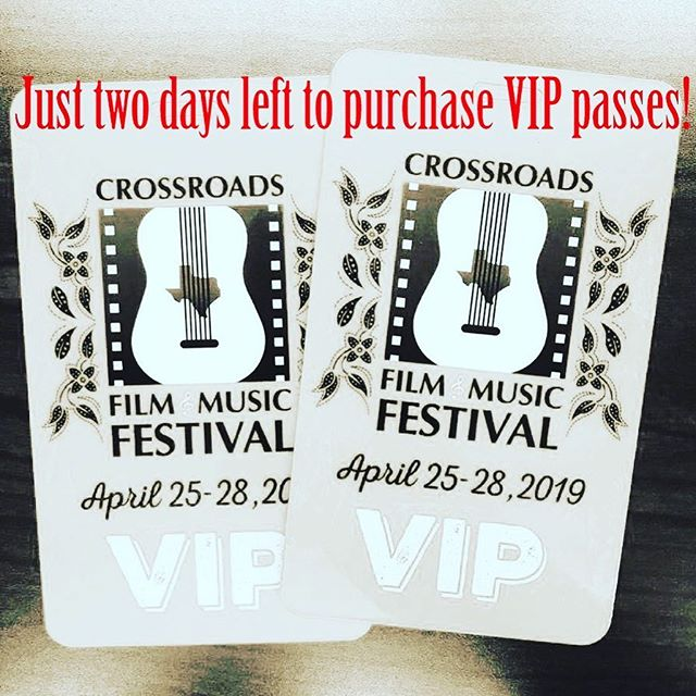 VIP passes will only be sold through Wednesday, April 10 at 5pm. Get yours while they last!!