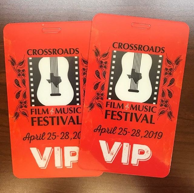 If you've purchased VIP passes and you're local, you may pick up beginning today at City Hall, 401 S. Rogers, between 8am and 5pm. If you're not local, you may pick up at the will call window during the event. Plenty of individual tickets for screenings and concerts are still available at crossroadsoftxff.com. See everyone in a couple weeks!!