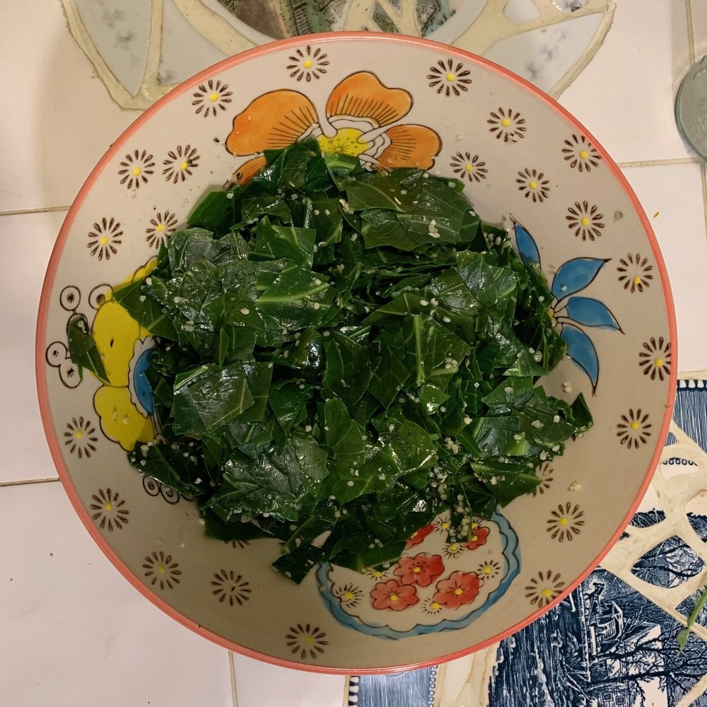 serving for 2-4 from one bunch of collards