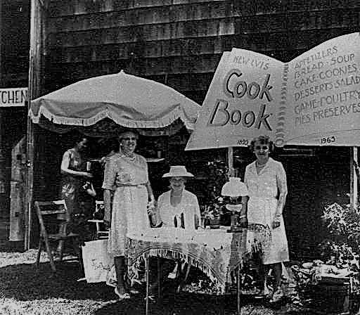 LVIS members selling cookbook, LVIS 50th anniversary