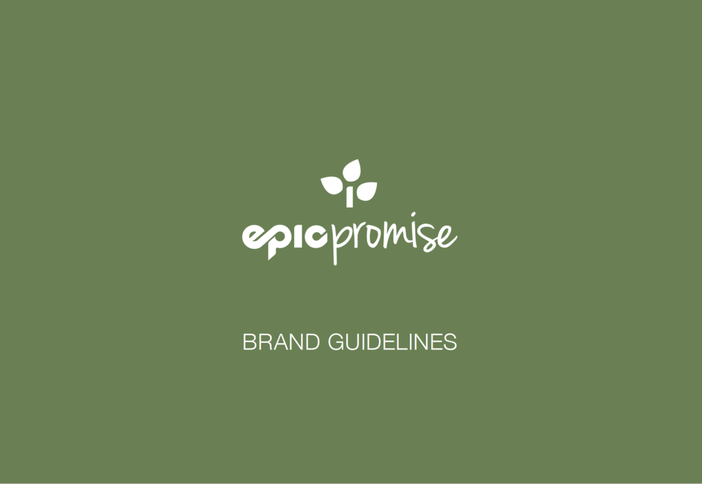Part of the Epic brand is EpicPromise. This brand was derived from an internal social responsibility brand for Vail Resorts and was evolved into a consumer-facing brand—EpicPromise—at all resorts. Full guidelines available upon request.
