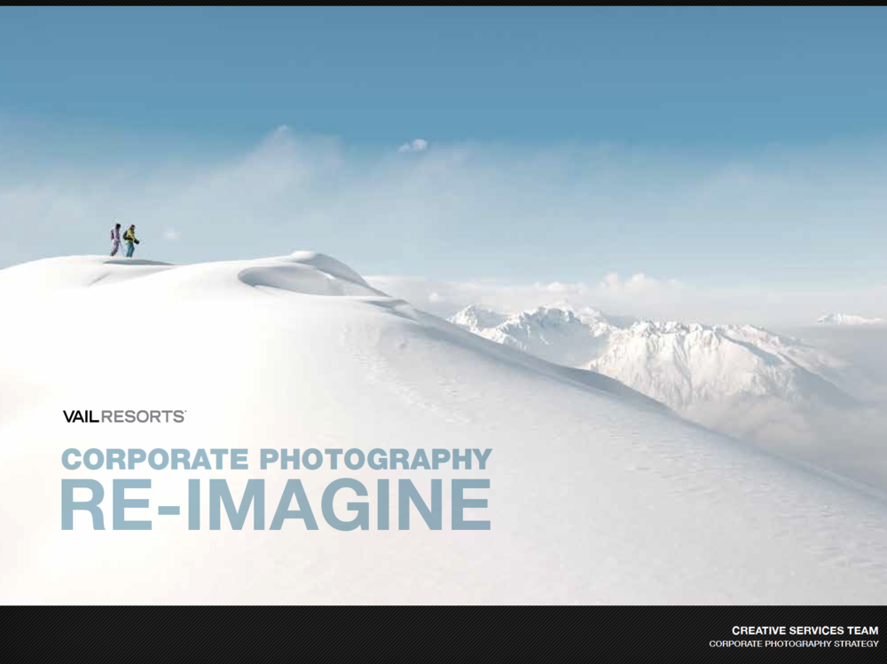 Defined the way photography was shot and treated overall for all of the domestic resorts for Vail Resorts mountains. Three categories were defined: Iconic, Making Memories and Breathtaking Moments. These three categories and the guidelines structured all photography style for the company's numerous brands.