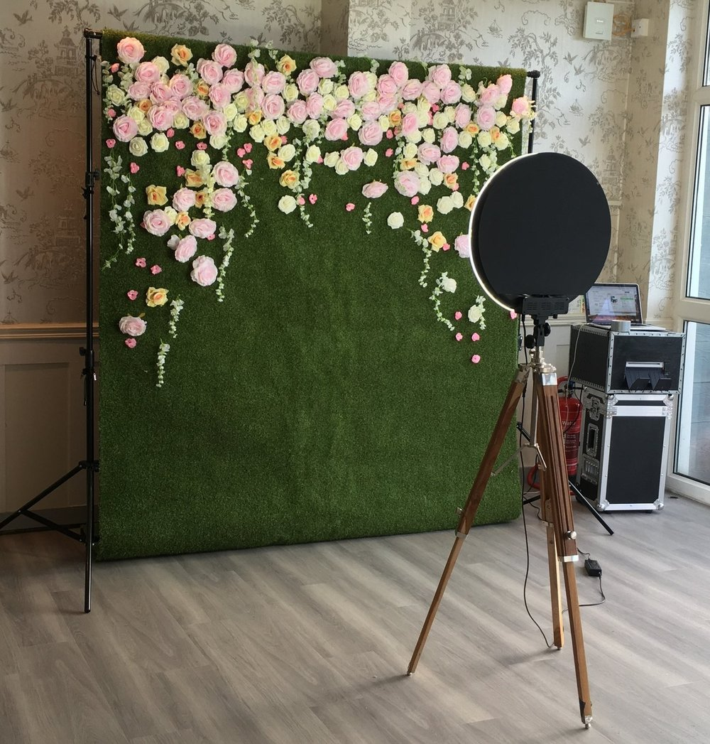 wide range of back drops and props available - Back dropsWe have a range of back drops that are included in the cost of the booth - stripes, block colours, sequins and colourful fabrics.PropsWe have a large selection of props to go with your photo booth. All booths come with a standard pack of moustaches, fun glasses and chalk boards.