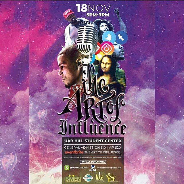 Birmingham we are home and will be performing live tomorrow at the Art of Influence Event at the University of Alabama of Birmingham Hill Student Center. Tickets available on eventbrite! #LoyaltyIsTimeless . . . . . #uab #uabblazers #Birmigham #alabama #independentartist #hiphop #rap