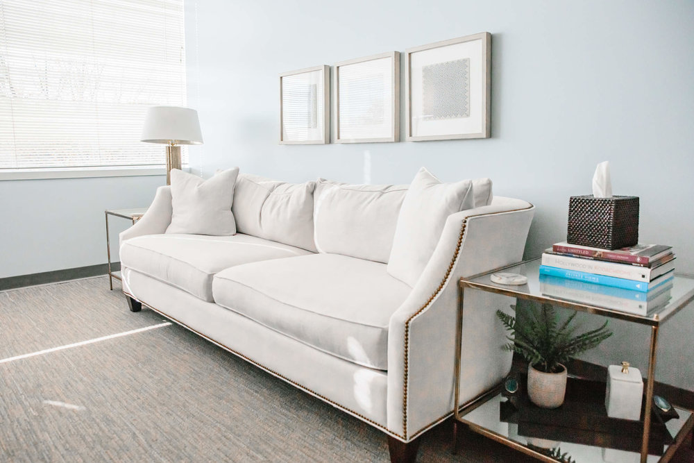 therapy room sofa