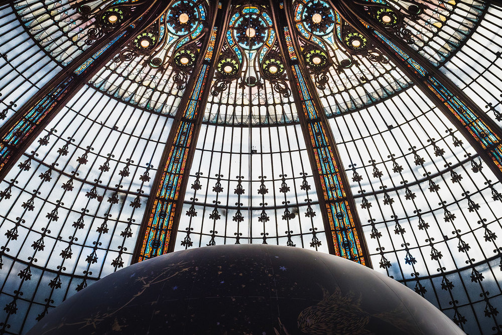 Earth under the Galeries Lafayettes