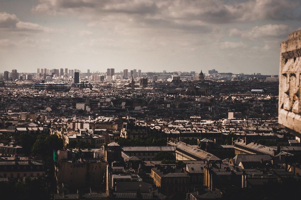 Paris panorama from Montmartre