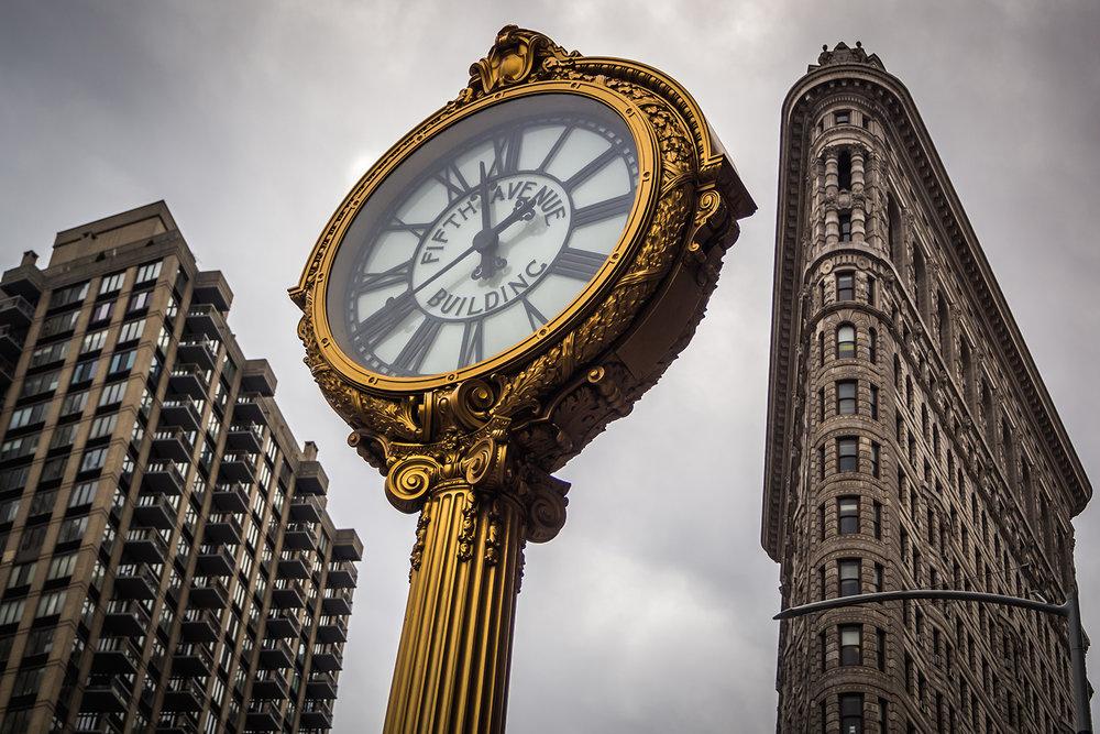 The clock of Flatiron buidling