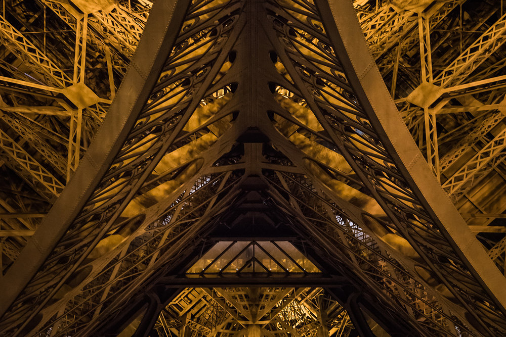 The Eiffel Tower by the inside
