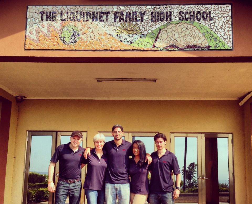 Volunteers at The Liquidnet Family High School in Rwanda, where they leverage their institutional investment technology