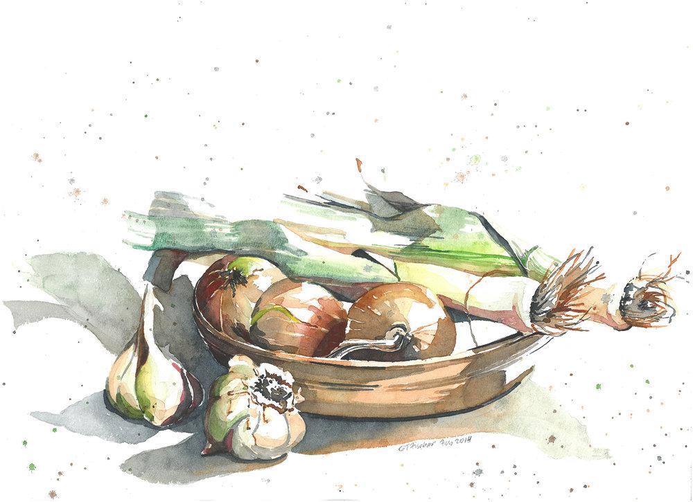 Garlic, Onions, & Leeks