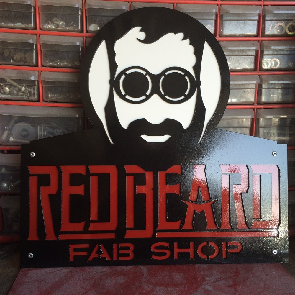 Red Beard two part Business sign