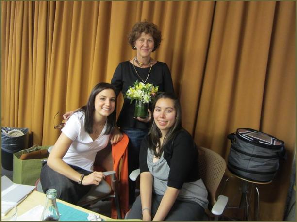 Valerie Wilson, Scholarship Specialist, Hannah Carey (l) and Kimberly Herrera both 2009-2013 recipients.