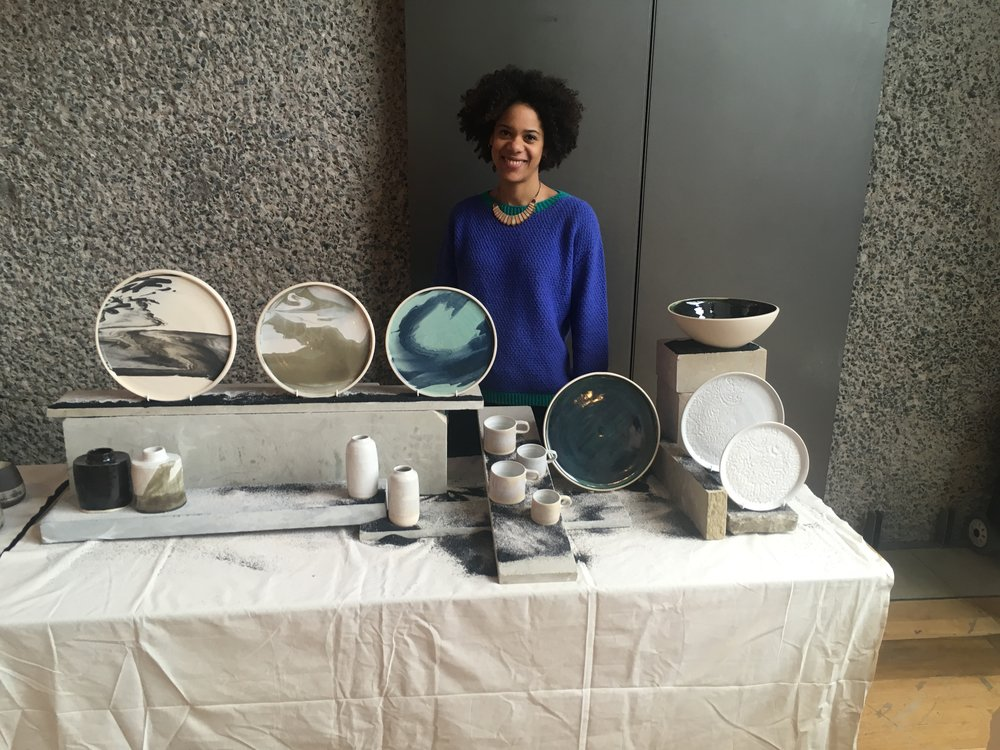 Set styled by  Victoria Tunstall  for the Barbican Ceramics Fair in March 2018.