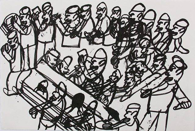 George Wilson_Untitled_2016_ Ink on paper_15x22.5