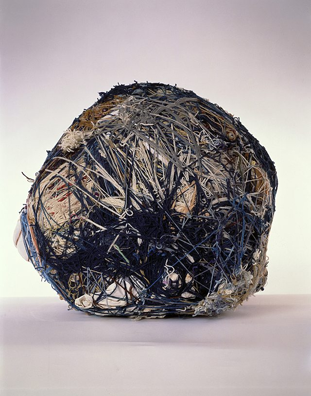 "Judith Scott, Untitled, Textile sculpture, 1998, 37"" x 29"" x 33"""