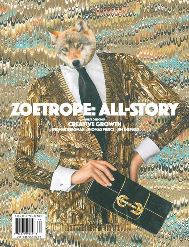 Cover of Zoetrope: All Story, Fall 2016, Image by John Hiltunen