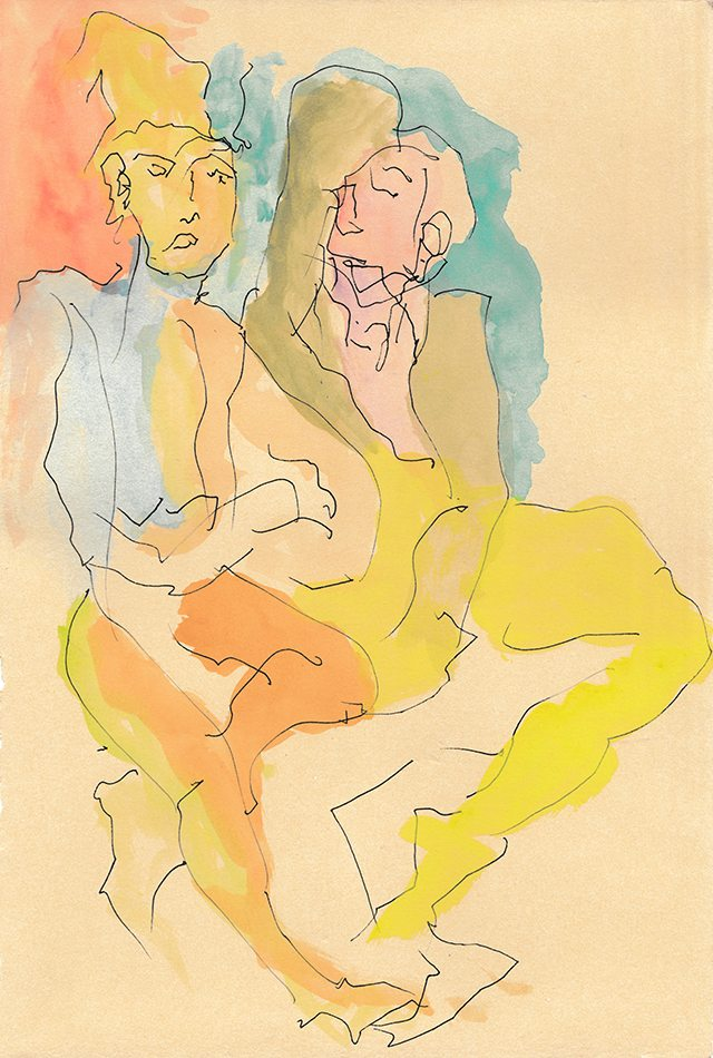 gender-bender_carrie-oyama_2016_watercolor-and-ink-on-paper_7-5x11