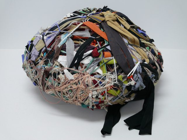 Judith Scott, Untitled, 2002, mixed media sculpture, 26 x 11 x 26 inches
