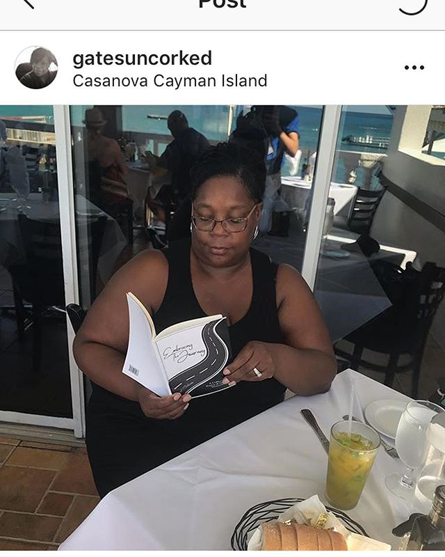 Yall my mama @gatesuncorked @gates_uncorked_travel is out of the country living her best life!!! She even took my book #EmbracingTheJourney with her to read!!! I guess you can say I'm INTERNATIONAL NOW!!! ☺️😊😌🙌🏾😩🙌🏾😆 #QuietStormPoetry