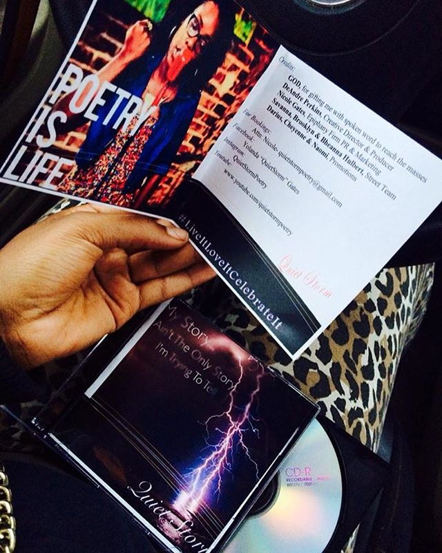 """TBT: Did you know back in 2014 I released a poetry cd inspired by @realcoleworld line """"My Story Ain't The Only Story I'm Trying To Tell""""??? I learned a lot about myself and others for this project... I'm thinking about doing another... hmmmm 🤔🤔🤔😌 #QuietStormPoetry"""