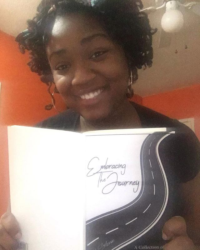 Poet Angel In Disguise has her #EmbracingTheJourney book out on this rainy day!! Do you have yours??? If not grab a copy at the link in my bio. #QuietStormPoetry