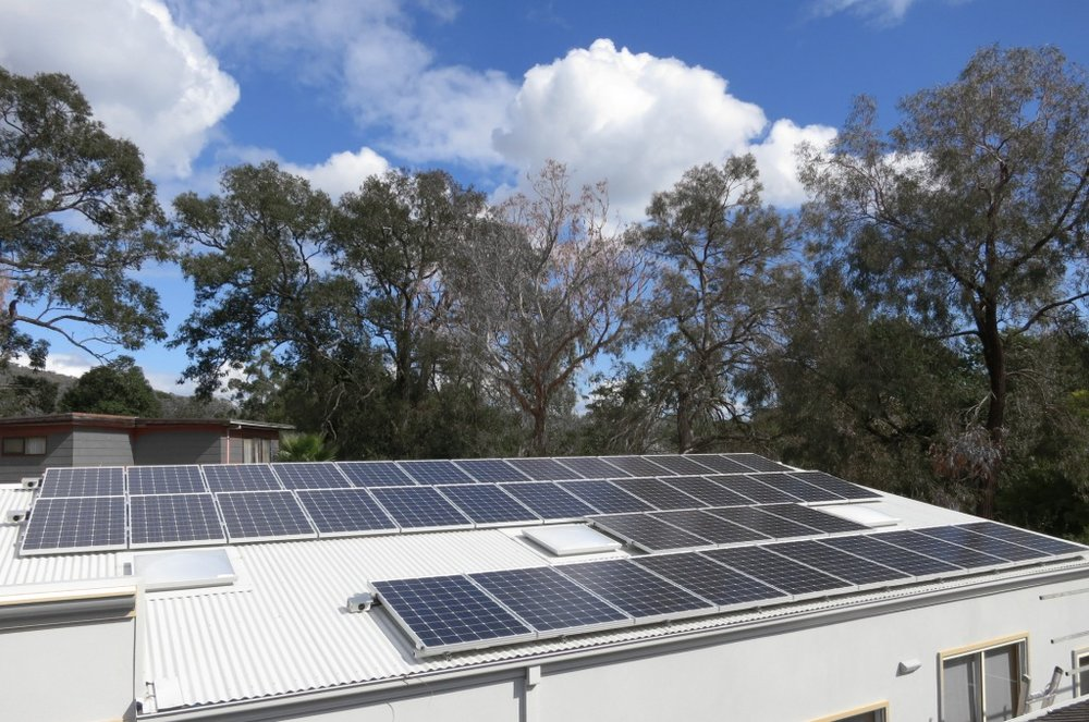 10kWp installation at the Melbourne Hindu Vinayagar Sangham, The Basin, Vic.