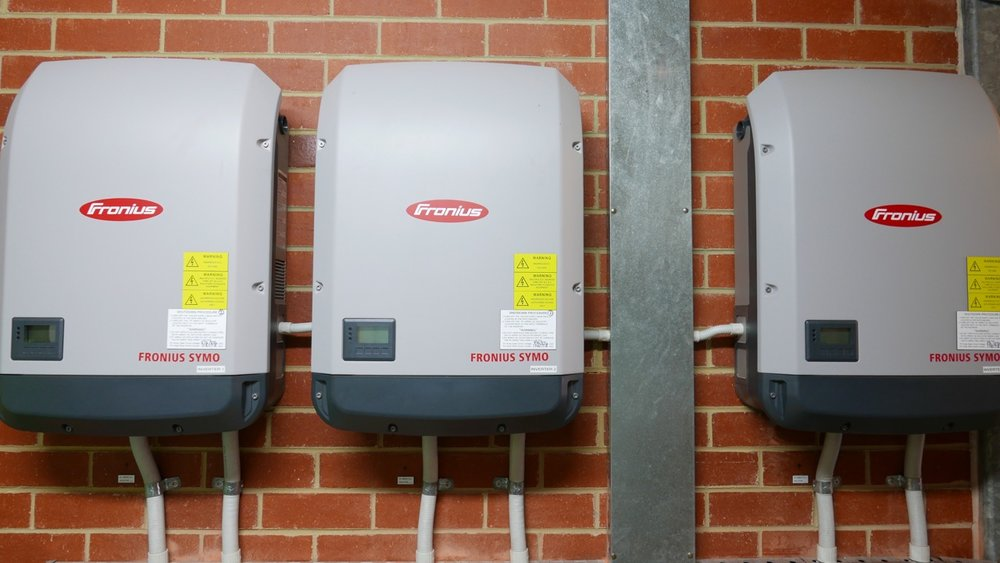 Inverter minimum cooling gap not adhered to. Impacts upon warranty and not compliant with Australian standards.