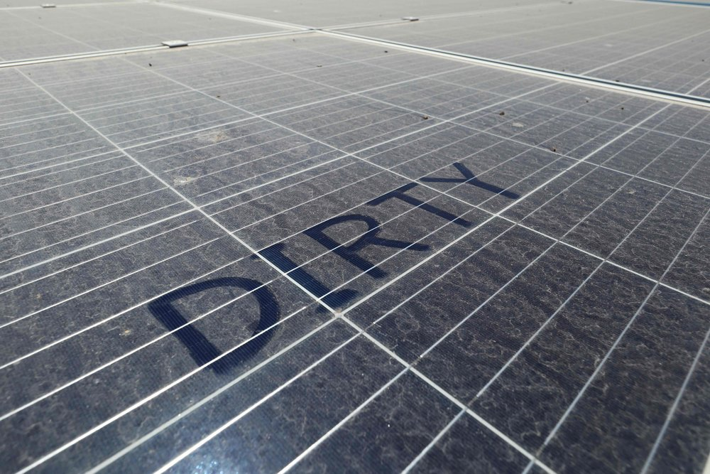 What is the impact of dust on solar performance?